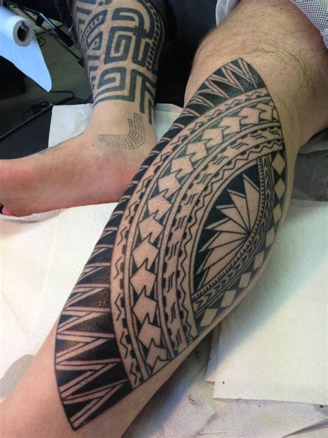polynesian tribal leg tattoos polynesian higginstattoo