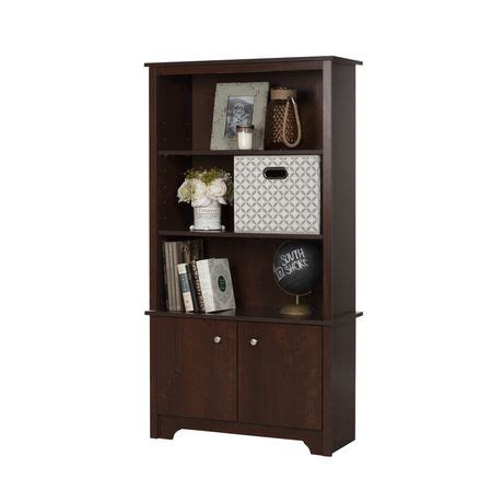 South Shore Vito 3 Shelf Bookcase With Doors Walmart Ca 3 Shelf Bookcase With Doors