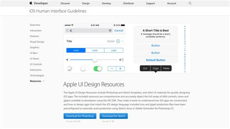 sketch ios template apple shares new ios 10 design resources available in