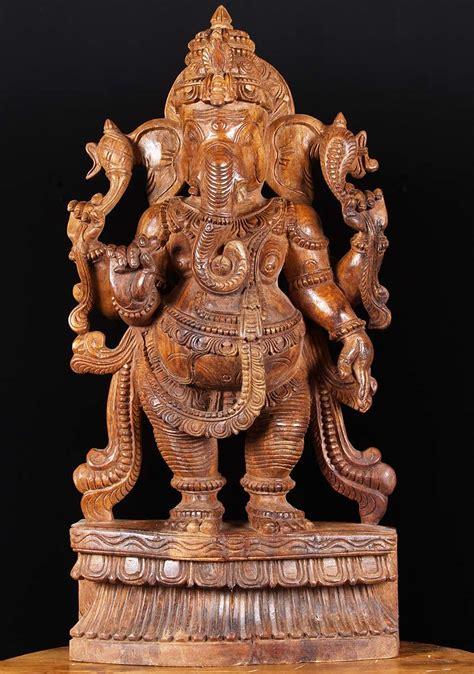 god statue sold wooden hindu god ganesh statue 30 quot 76w19h hindu
