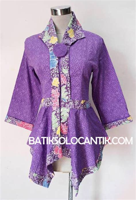 Baju Batik Wanita Kombinasi Polos model dress batik 2014 design bild