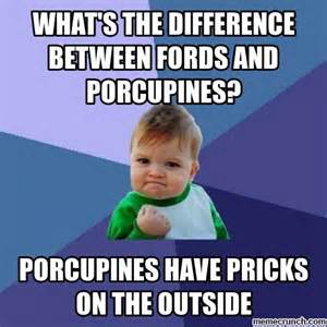 What S A Meme - what s the difference between fords and porcupines