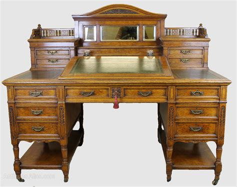 Pedestal Desks For Sale Victorian Light Oak Desk Antiques Atlas