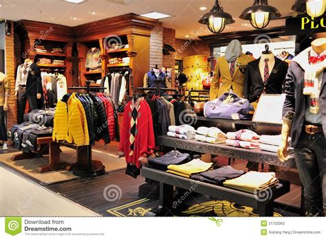 s fashion clothes shop editorial stock photo image