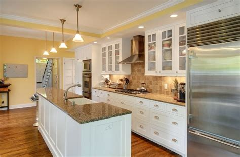one wall kitchen with island designs one wall open galley style kitchen with island