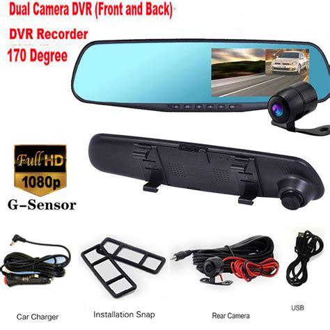 Kamera Mobil Dual Lens Vehicle Blackbox Dvr Hd 1080p 1 hd 4 3 quot 1080p dual lens recorder dash rearview