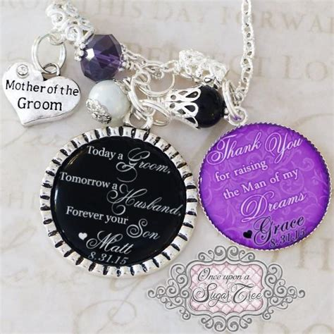 Wedding Gift Jewelry by Of The Groom Necklace Wedding Gift From