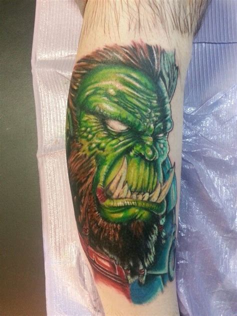 iron lotus tattoo world of warcraft orc by jeremiah klein at iron