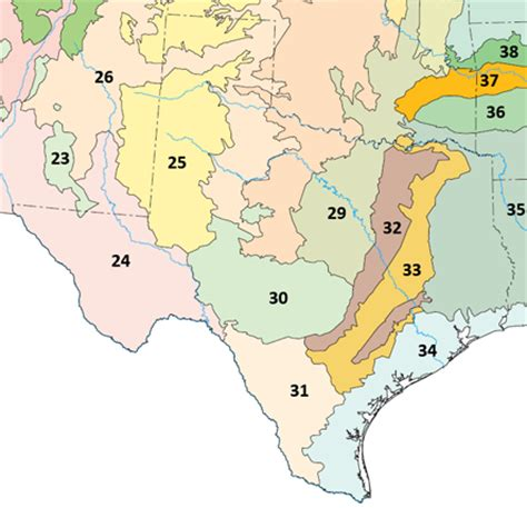 texas biomes map east central texas forests