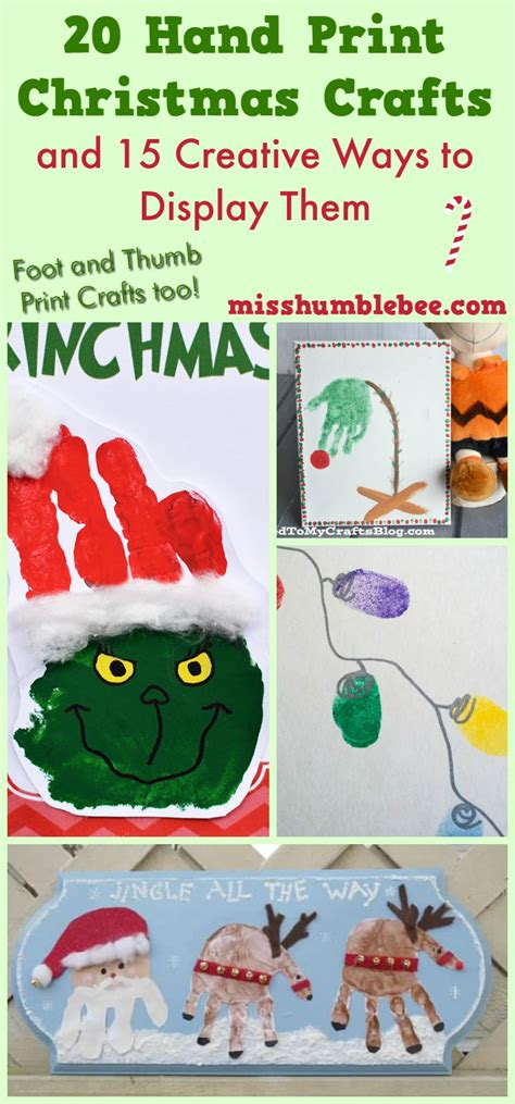 20 hand print christmas crafts and 15 creative ways to