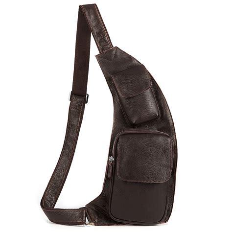 Slingbag Serut 3 kattee fashion genuine cow leather cross chest shoulder sling bag ebay