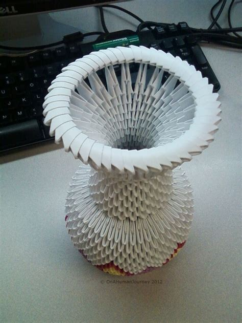3d Origami Vase Pattern - 17 best ideas about 3d origami on modular