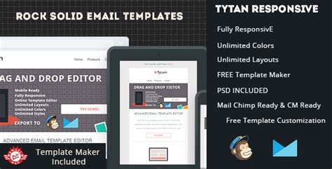 Tytan Responsive Email Template With Editor By Emailmad Themeforest Responsive Email Template Themeforest