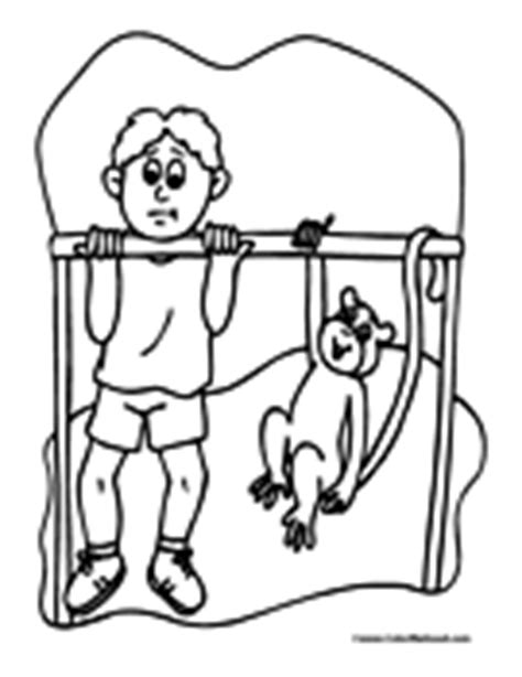 monkey bar coloring page monkey coloring pages
