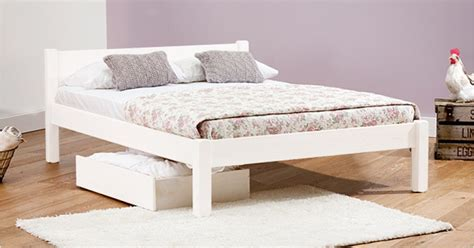 Wooden Bed Frame Uk White Bed Get Laid Beds