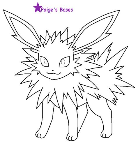 pokemon coloring pages jolteon pokemon jolteon base images pokemon images