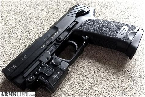 Handgun Usp With Laser armslist for sale hk usp 45acp w veridian c5l laser