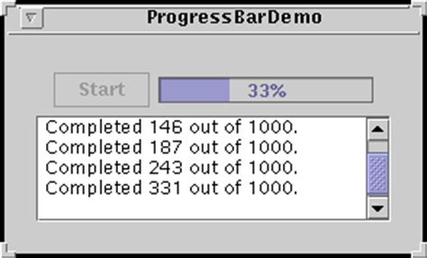 swing timer java how to monitor progress