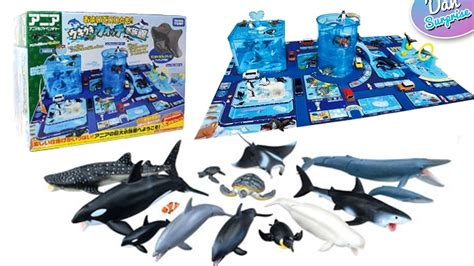 takara tomy zoo dinosaur and sea animal toys play set for