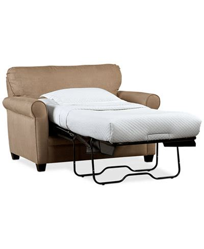 Folding Guest Bed Calgary Kaleigh Fabric Sleeper Chair Bed Furniture Macy S