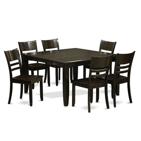 7 pc dining table set 7 pc dining set dining table with leaf and 6 dinette chairs