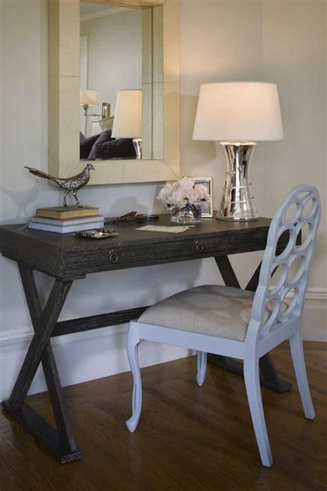 Gray Desk Transitional Den Library Office Jute White Caign Desk