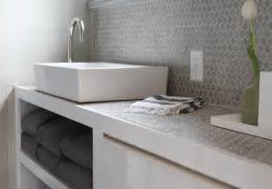 bathroom tile backsplash gray penny tile backsplash contemporary bathroom molly frey design