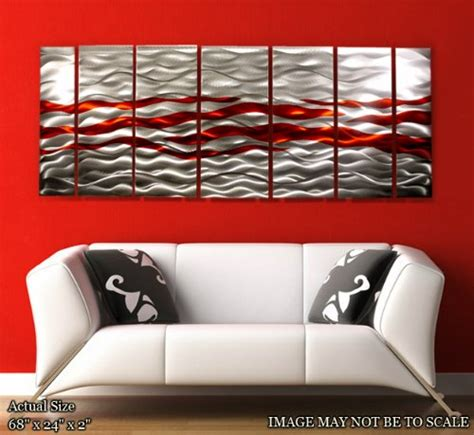 Aluminium Home Decor by Red Metal Wall Art To Decorate Living Room Exist Decor