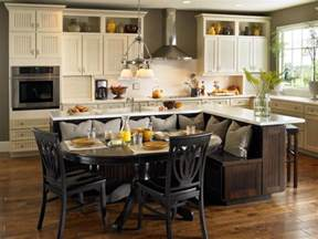 Kitchen Island With Built In Seating 10 Kitchen Islands Kitchen Ideas Design With Cabinets Islands Backsplashes Hgtv