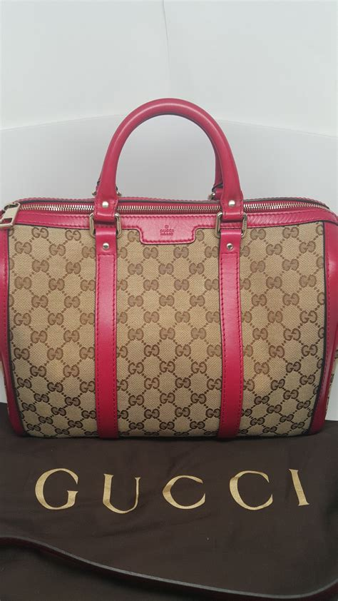 Garucci Bag Pink 2 gucci pink leather gg canvas boston bag hebster boutique