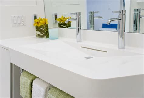 Corian Countertops Bathroom by Perry St Corian Bathroom Nyc Bathroom
