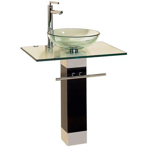 Vanity With Vessel Sink Combo 23 inch modern bathroom vanities tempred glass design vessel sink 09