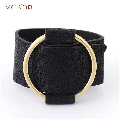 Bangle Korea Plated Gold Leather Kb27739 Zabu trendy black leather bracelet for gold plated circle knot wrap bracelets wide