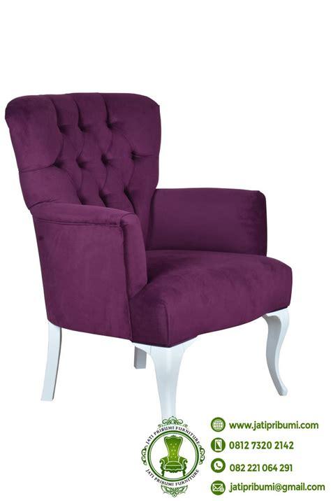 Kursi Keramas Ungu Putih kursi warna ungu minimalis jok jati pribumi