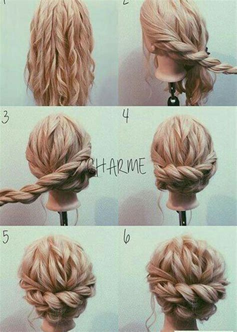 cute easy hairstyles simple braided flower updo 15 unique updo hairstyles to wear this holiday season