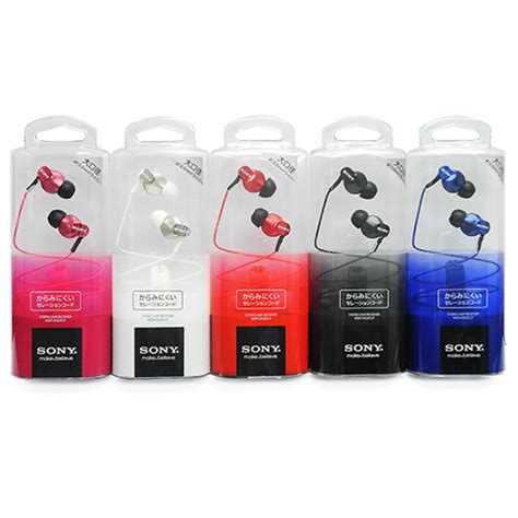 Sony Ex220lp Stereo Bass Earphone Sony Ex220 Lp genuine sony mdr ex220lp angled structure stereo inear