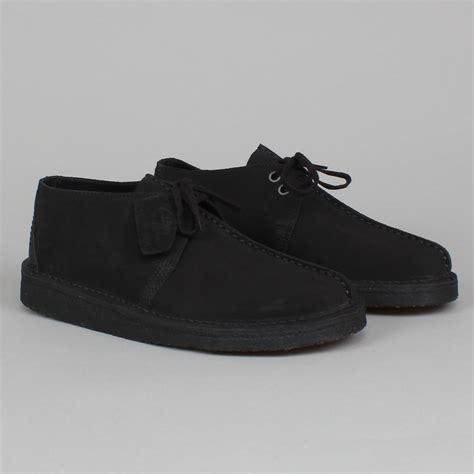 Clark Suede by Clarks Desert Trek Black Suede Casual Footwear