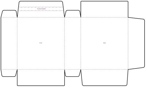 card box template illustrator illustrator box template