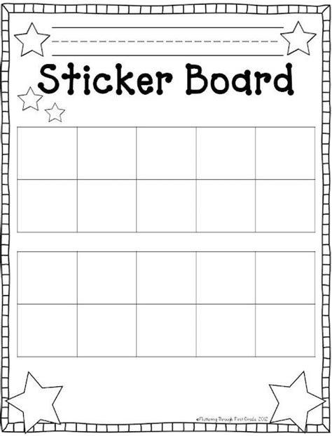 fluttering through first grade tens frames sticker charts