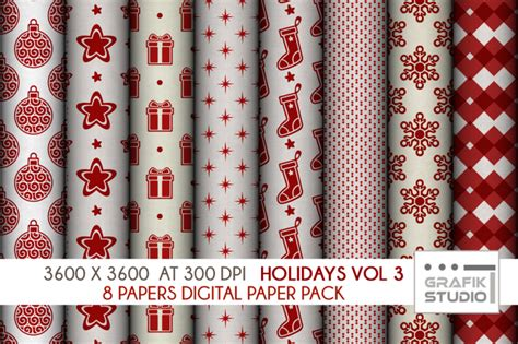 paper volume 3 holidays digital papers pack volume 3 seamless