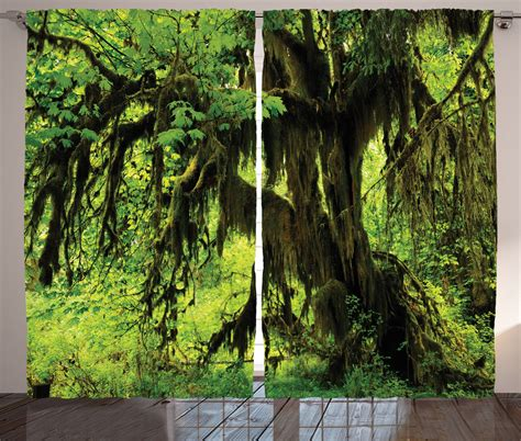 jungle curtains uk green tree with moss in jungle natural life zen home decor