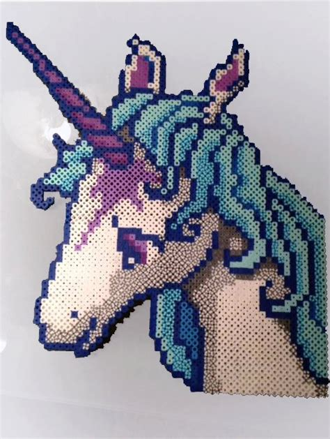 unicorn perler pattern these are pieces are made from perler beads these are