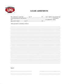 lease addendum template rental agreement form 11 free sle exle format