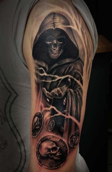 grim reaper tattoo meaning collection of 25 fantastic grim reaper on shoulder