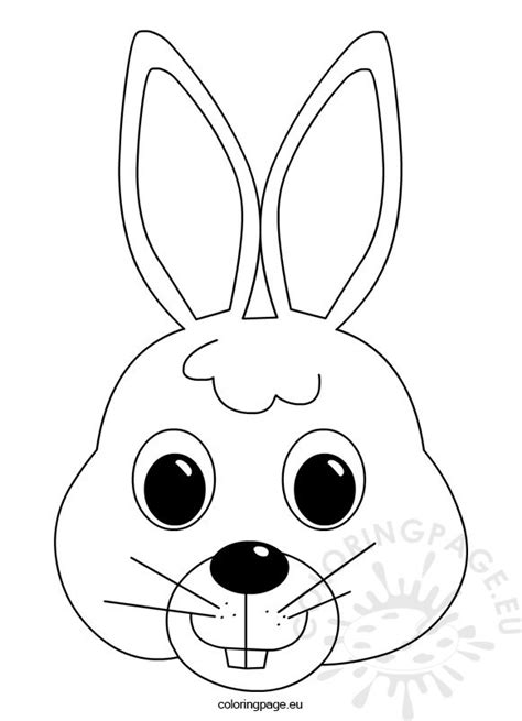 Easter Bunny Face Coloring Pages To Print | easter bunny face coloring page coloring page