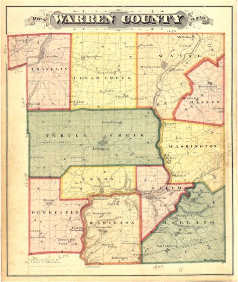 Records Warren Ohio Warren County Ohio Maps