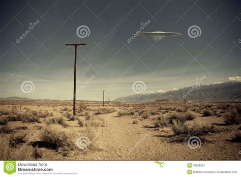 the road to strange ufos aliens and high strangeness books ufo desert road stock photography image 36266912