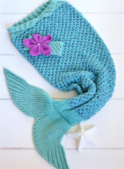 knitted mermaid mermaid snuggle blanket knitting pattern by caroline