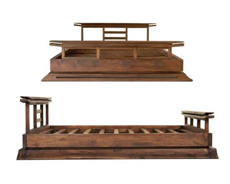 asian style bed frame kondo platform bed tansu asian furniture boutique