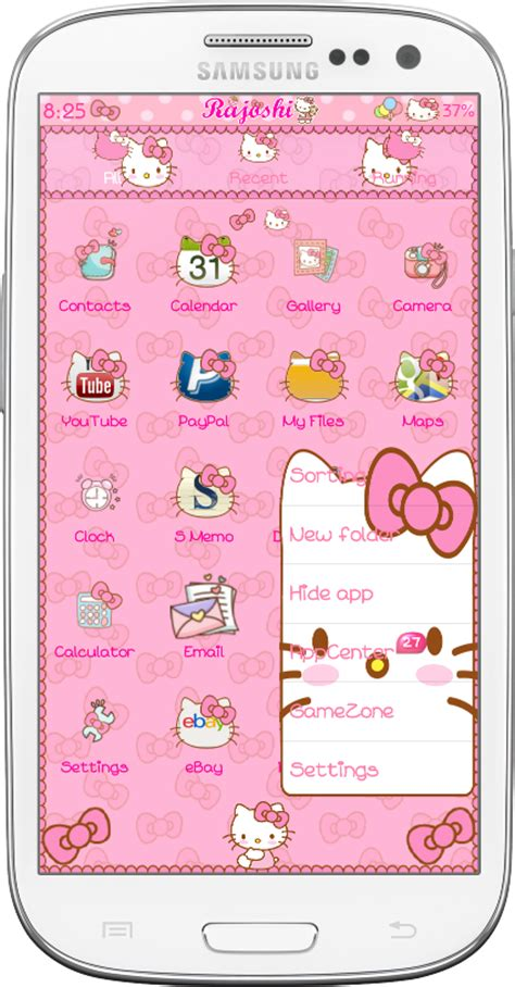 kitty themes for android download hello kitty loves bow go launcher theme for